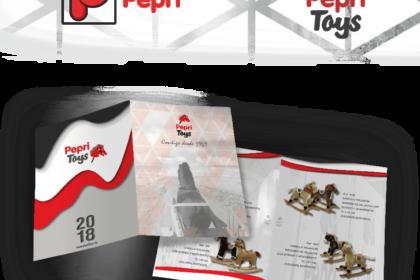 Diseño logo y catálogo Pepri